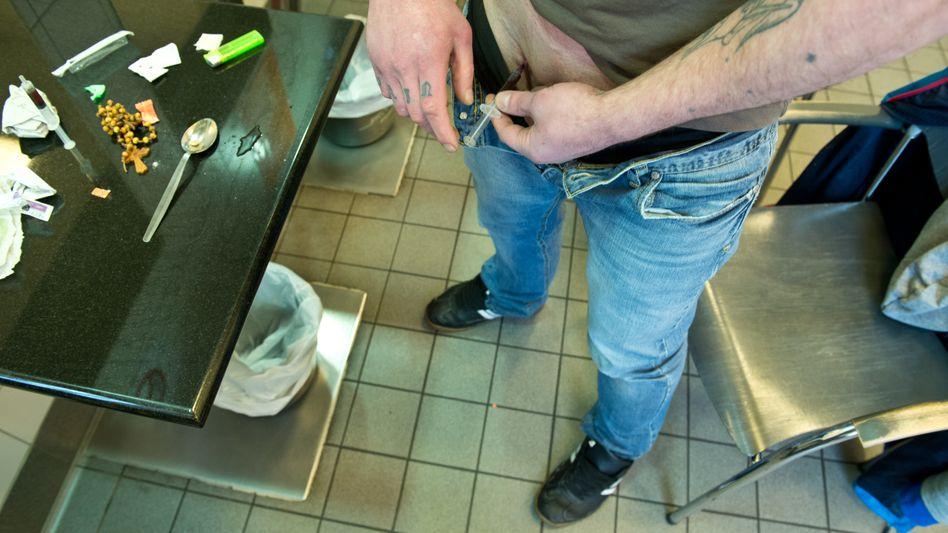 Drogenabhängiger in Frankfurt am Main