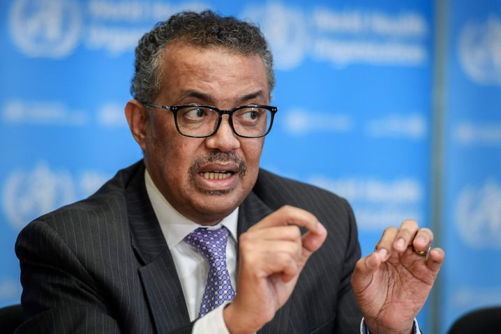 WHO Director-General Tedros Adhanom Ghebreyesus: effusive praise for China's leader