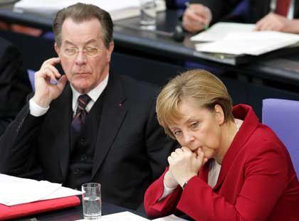 Angela Merkel und Franz Müntefering: Vertrauen eingebüßt
