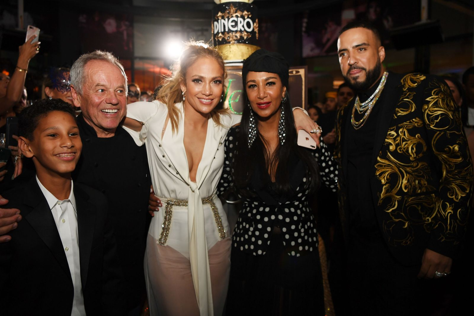 """Jennifer Lopez Celebrates Release Of New Single """"Dinero"""" With Wolfgang Puck During Sneak Peak Of The New Spago At Bellagio"""