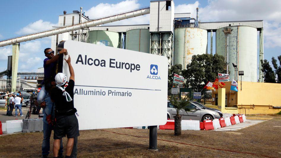 Alcoa-Werk auf Sardinien: Der Aluminiumkonzern schließt den italienischen Standort.
