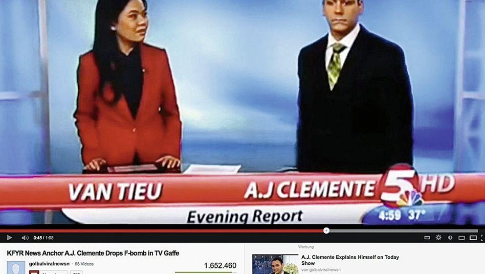 Nachrichtensendung mit Clemente