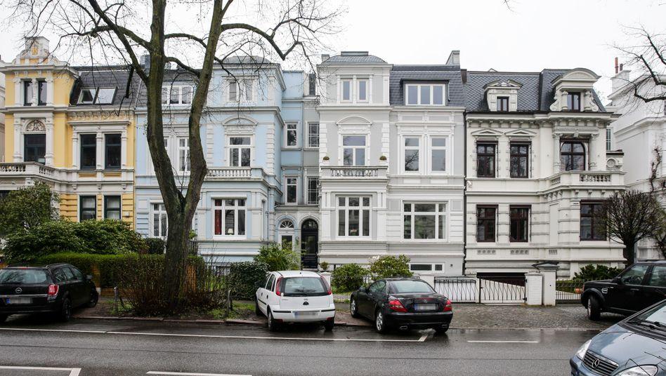 """Villen in Hamburg-Harvestehude (Archiv): Gefahr der """"Übertreibungen bei den Vermögenspreisen"""""""