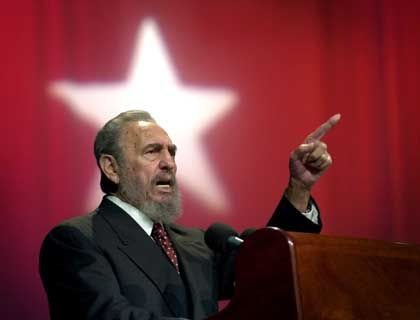 Auf Bushs Liste: Fidel Castro
