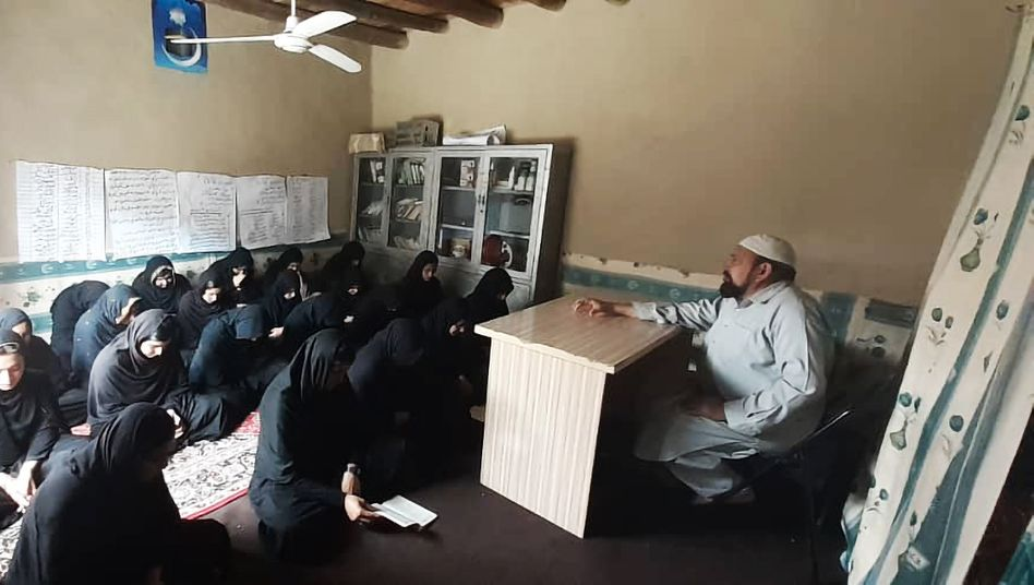 Ur-Rahman gives lessons to around 30 girls in his living room.