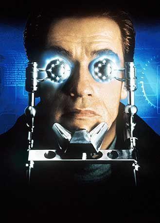 "Actionstar Schwarzenegger in"" The 6th day"""