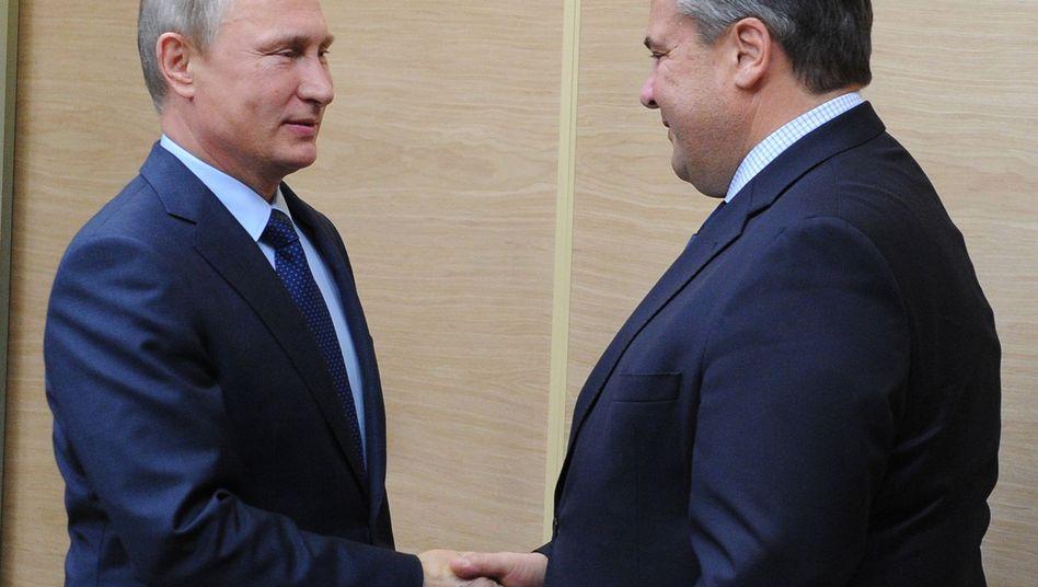 Putin und Gabriel (Archiv)