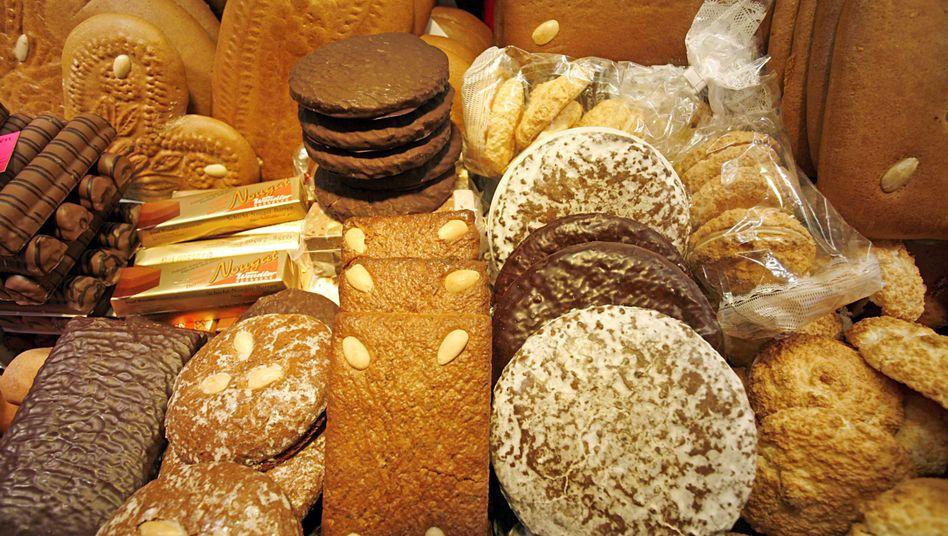 Lebkuchenauswahl: Neben Zucker enthalten manche Plätzchen auch wertvolle Gewürze