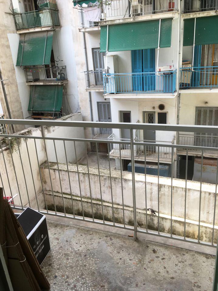 Blick aus Fahimas Wohnung in Athen
