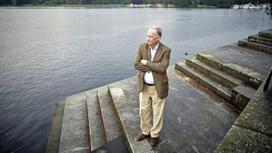 Parteivize Gauland am Tiefen See in Potsdam