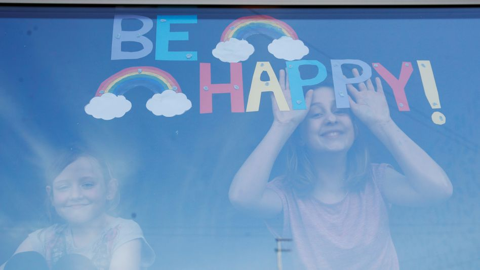 In many countries, children have painted rainbows and hung them in their windows.