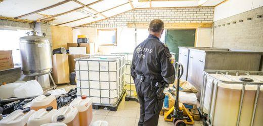 Niederlande: Polizei entdeckt in Nederweert riesiges Crystal-Meth-Labor