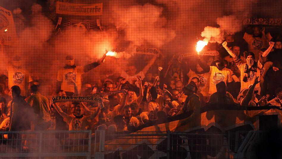 Dresden-Fans in Dortmund: Randale vor sechs Millionen TV-Zuschauern