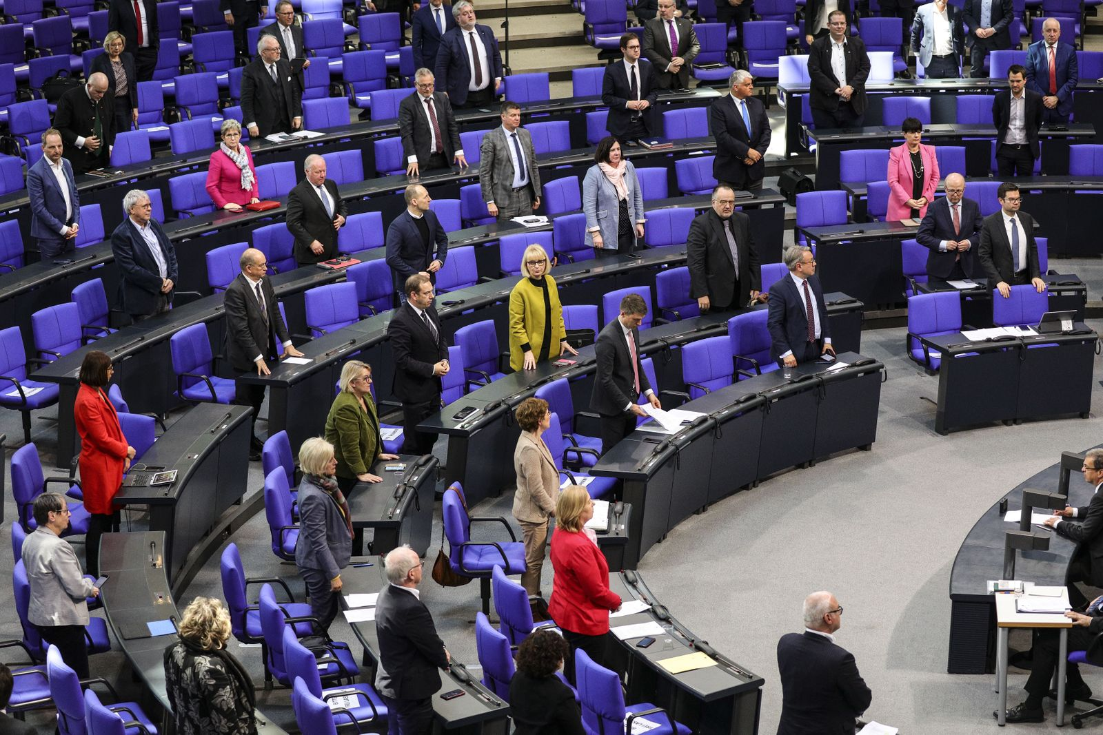 Bundestag session - Coping with the Corona Crisis, Berlin, Germany - 25 Mar 2020