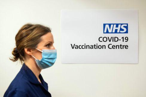 Corona-Impfzentrum in London