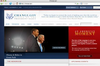 Webseite Change.gov: Interaktivität und Nutzerinhalte in den Regierungsprozess integrieren?