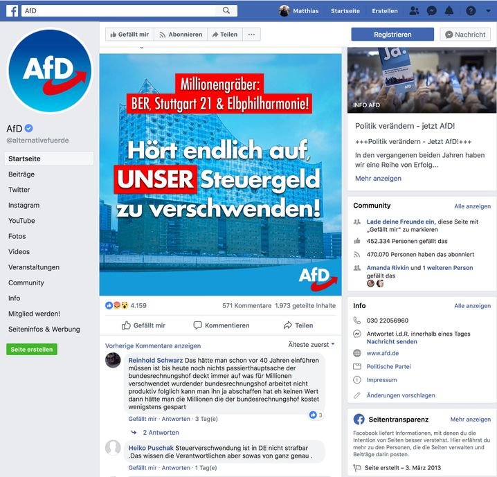"The AfD relies on simple, emotional messages like this one: ""Stop wasting our tax money!"""