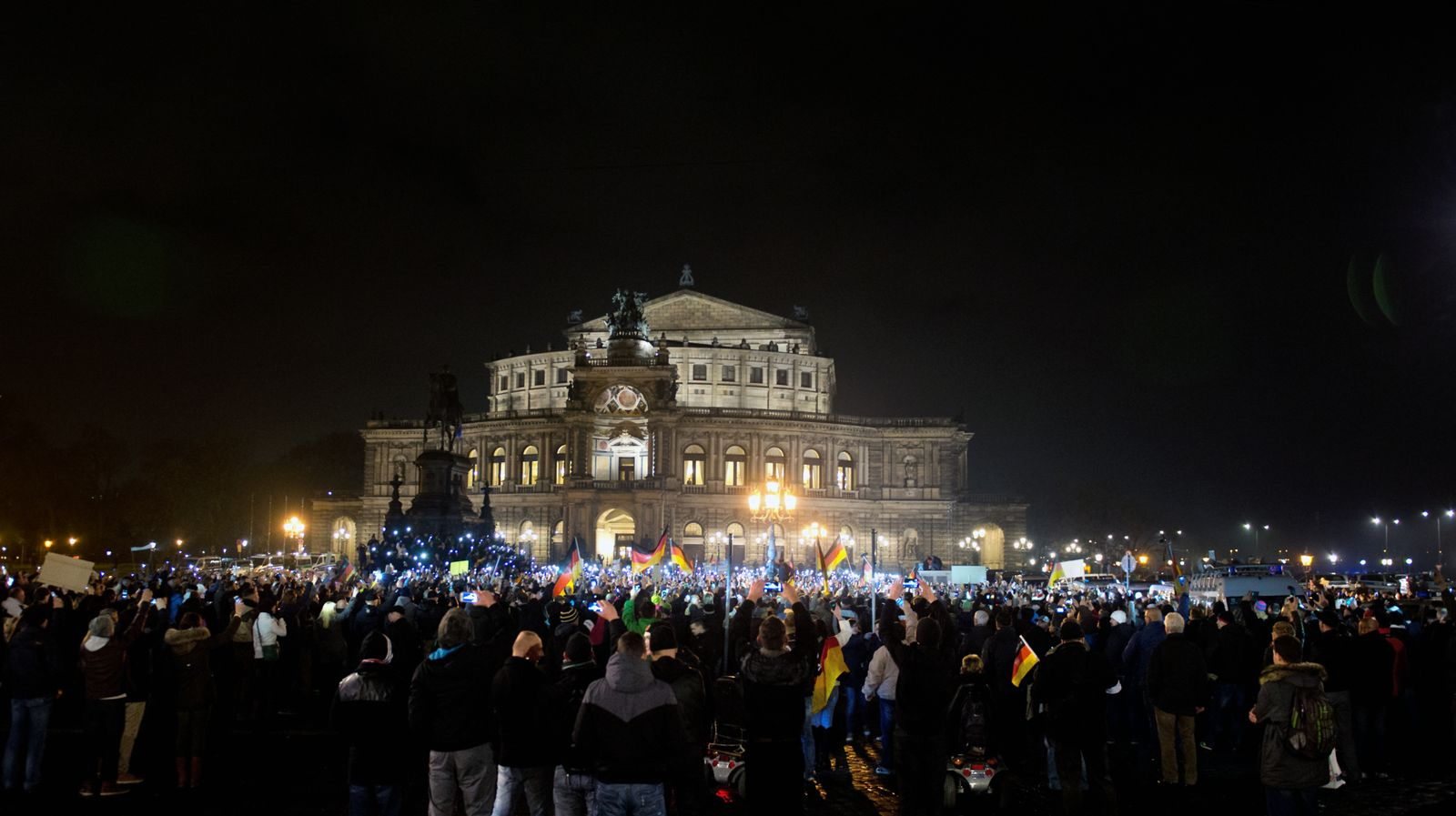 Demonstration/ Pegida/ Dresden