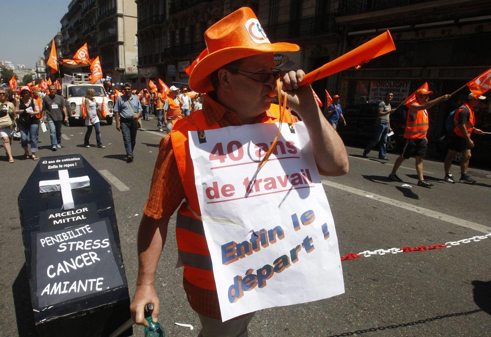 Neue Proteste gegen Rentenreform in Frankreich