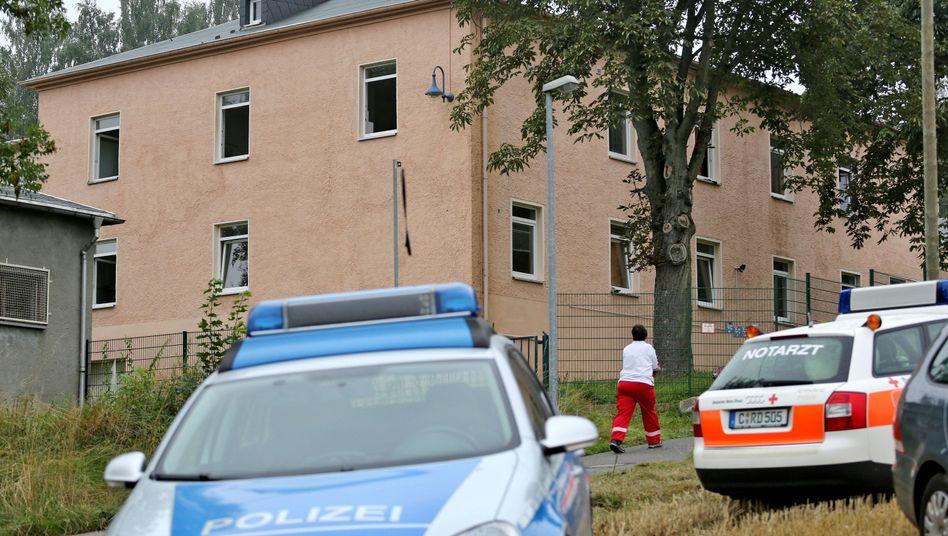 Asylunterkunft in Aue: Brand im Dachstuhl