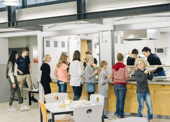 Schüler in der Mittelschule in Mömbris