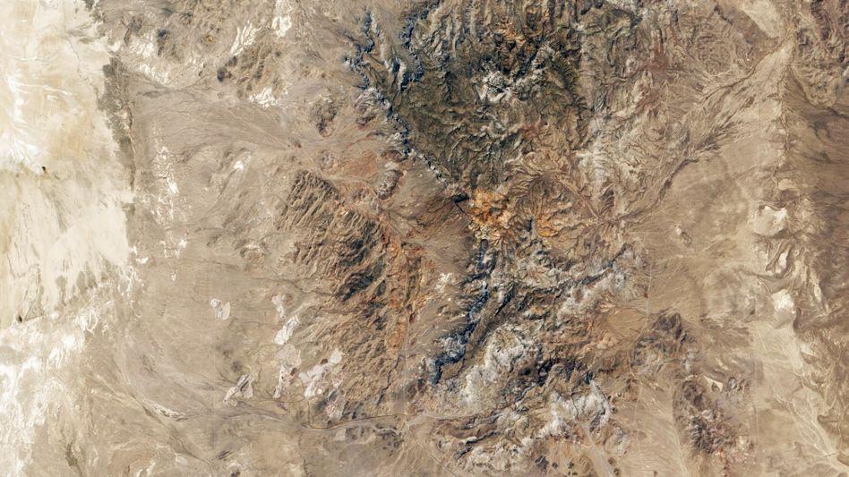 Berglandschaft in Utah: Hier wird das Beryllium für die Teleskopspiegel gewonnen
