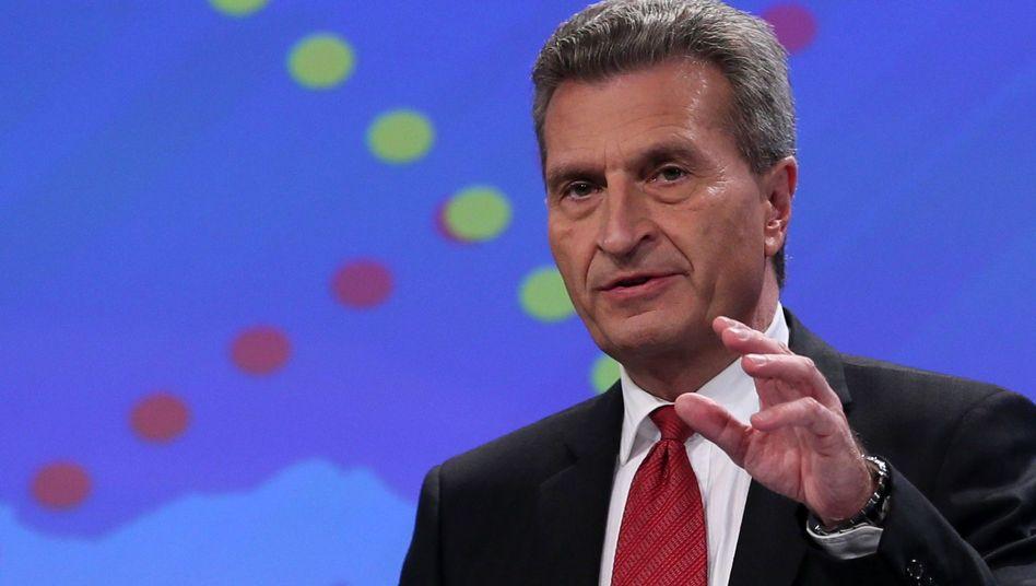 """Energiekommissar Oettinger: Versicherungssumme """"so hoch wie möglich"""""""