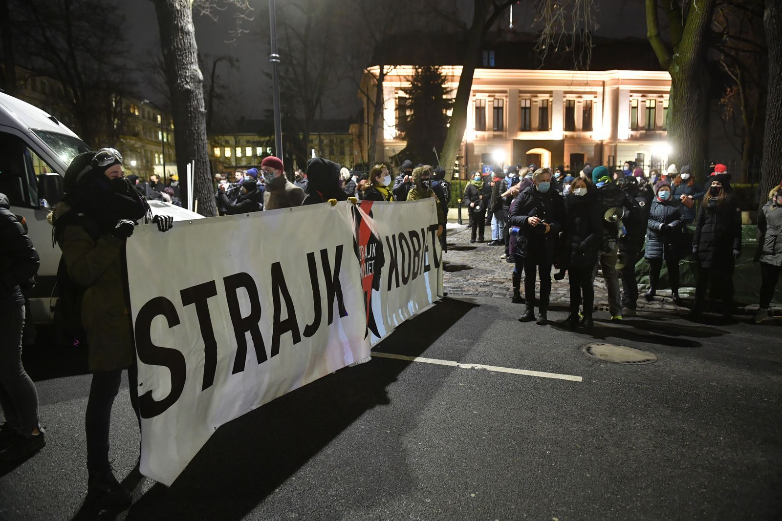 Womens Strike against the tightening of the abortion law in Warsaw, Poland - 27 Jan 2021