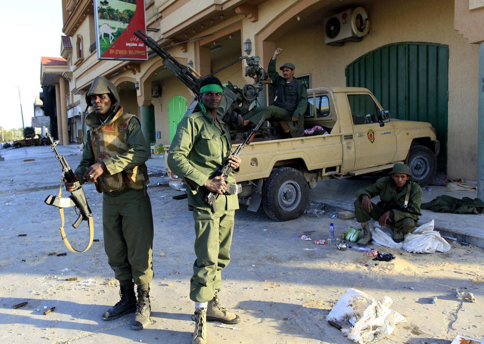 Libyen / Truppen Pro-Gaddafi