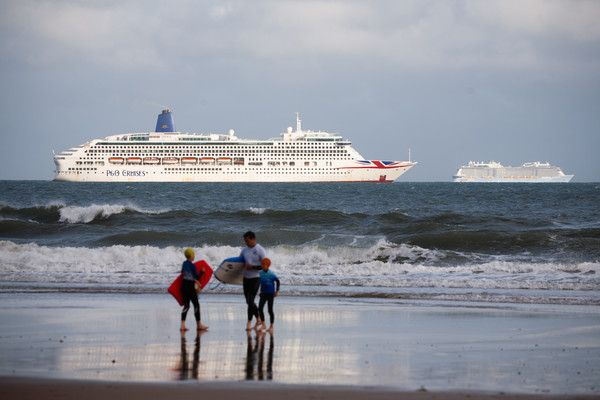 Cruise Ships Wait Out Coronavirus Pandemic In English Channel