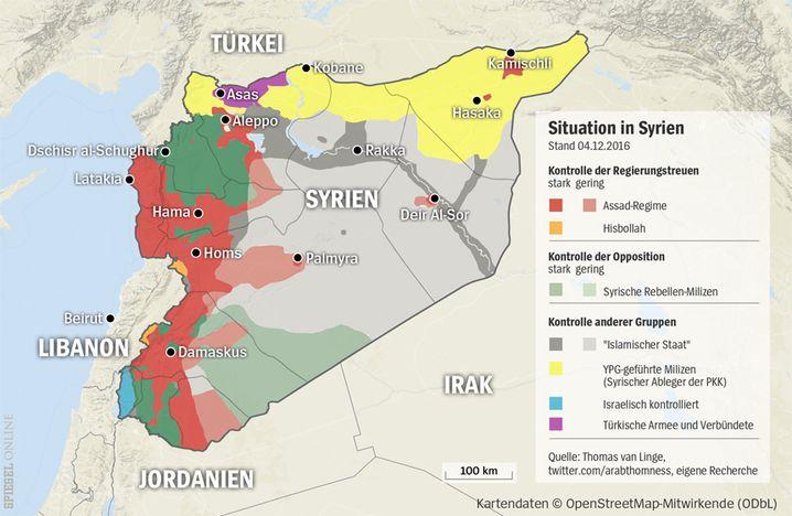 Karte von Syrien (04.12.2016)
