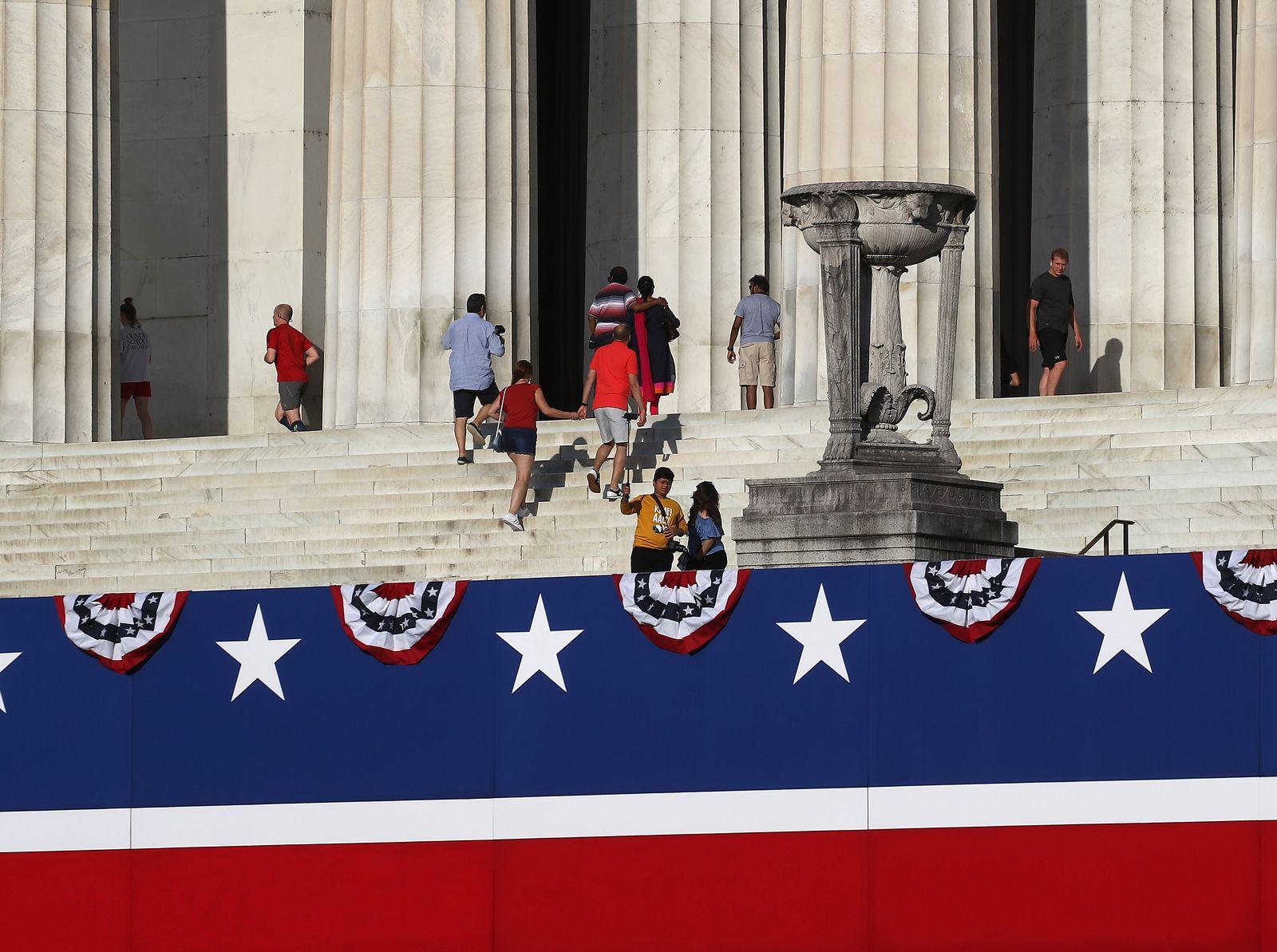 US-WASHINGTON-PREPARES-FOR-PRESIDENT-TRUMPS-FOURTH-OF-JULY-CELE