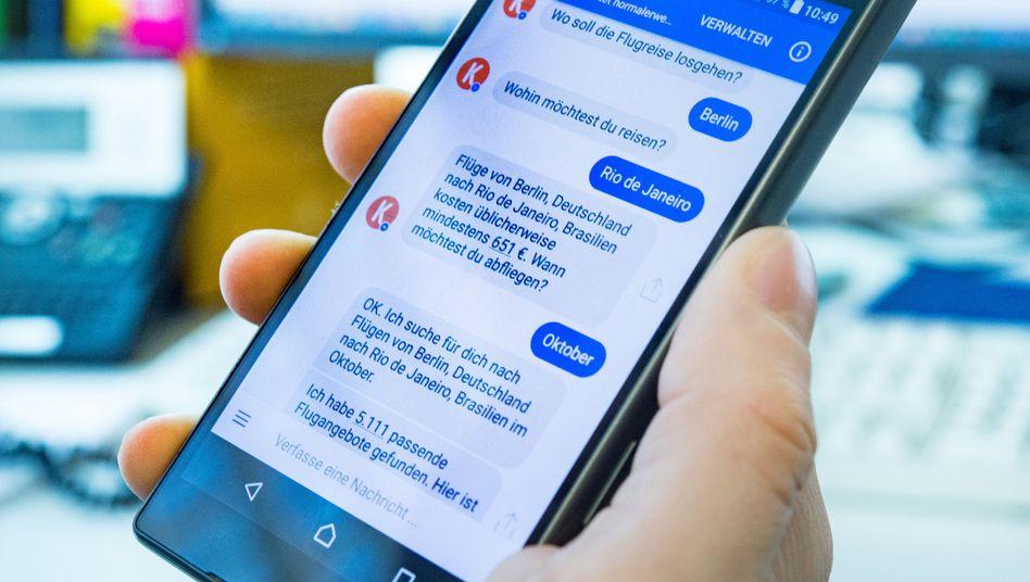 Chatbot im Facebook-Messenger