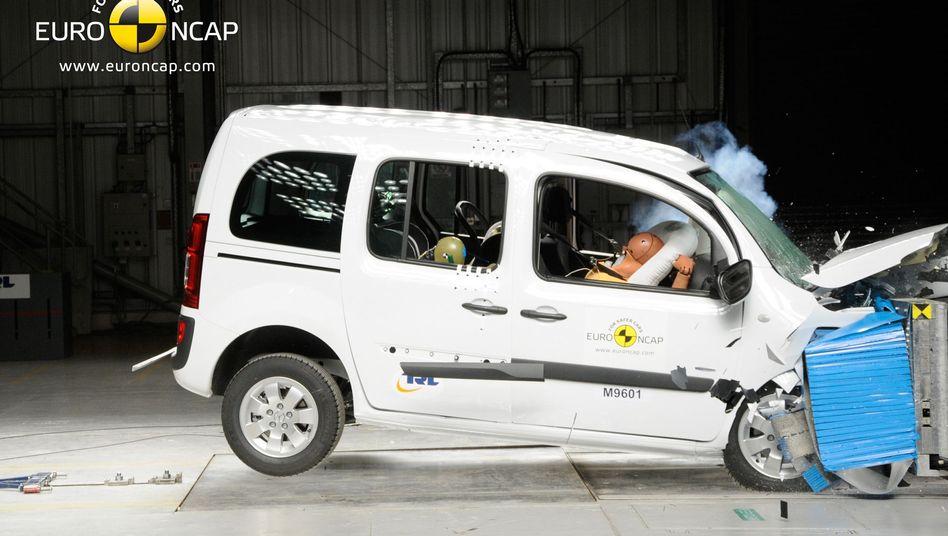 Mercedes Citan: Der Stuttgarter Kastenwagen erzielte im Euro-NCAP-Crashtest drei Sterne