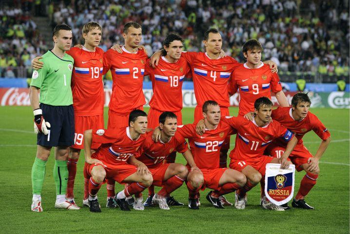 Russlands Mannschaft bei der EM 2008