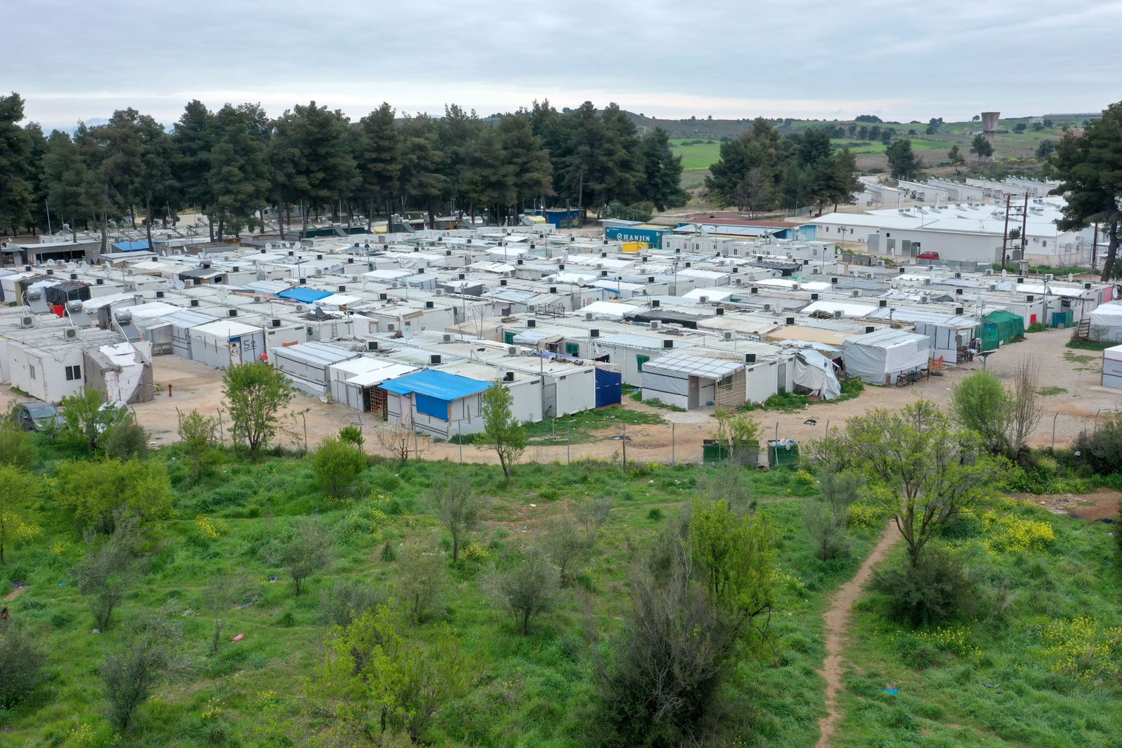 Refugee camp of Ritsona confirmed 23 cases of covid-19, Greece - 03 Apr 2020