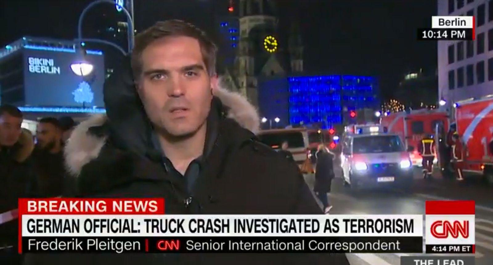 NUR ALS ZITAT Screenshot / Berichterstattung CNN / Berlin