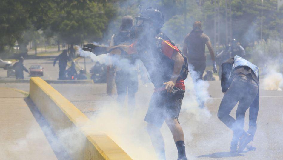Demonstranten diese Woche in Venezuela (Archiv)
