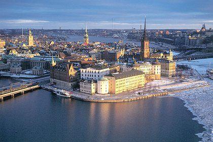 The Swedish capital Stockholm.