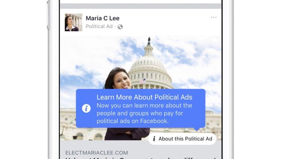 Gekennzeichnete Werbung auf Facebook