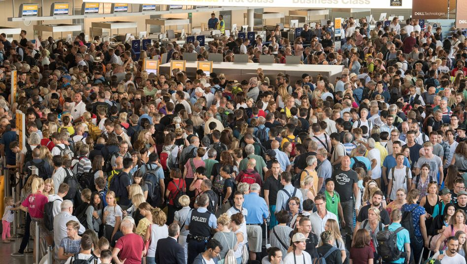 Terminalräumung am Frankfurter Flughafen (August 2018)