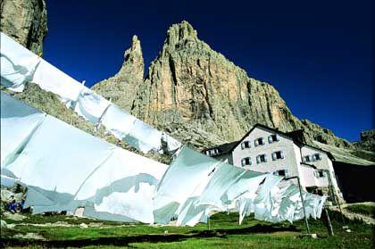 Vajolethütte: Keine Waschmittelwerbung, sondern die bekannteste und bestbesuchte Hütte der Rosengartengruppe