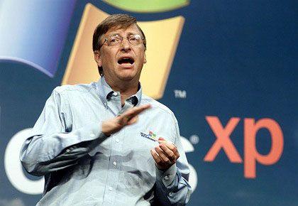 """Bill Gates beim XP-Launch im Jahr 2001: """"Das beste Betriebssystem, das Microsoft je produziert hat"""""""