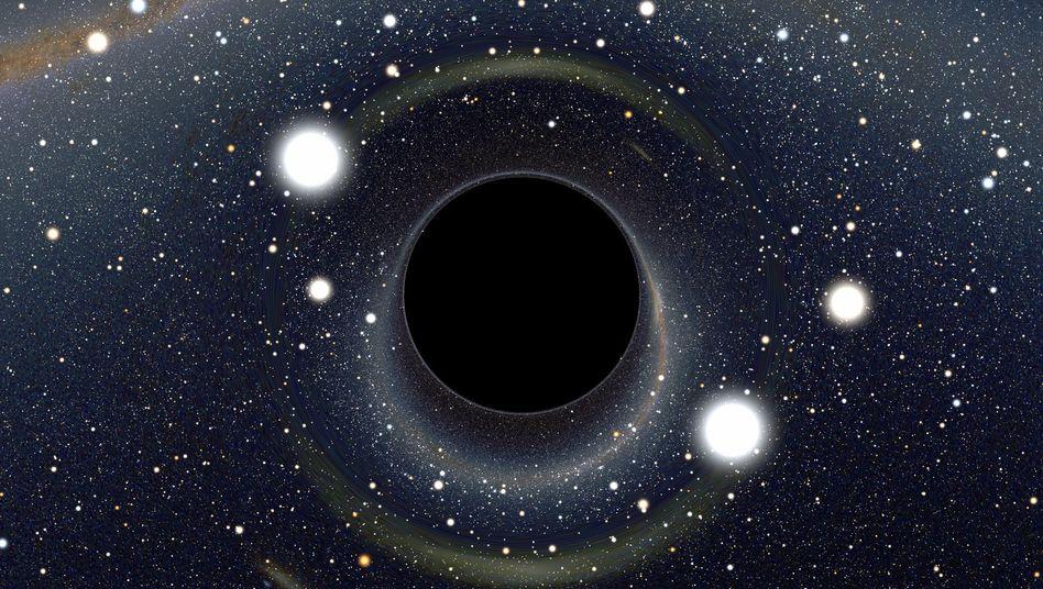 """Schwarzes Loch (Zeichnung): """"Dieser Blitz wird sehr hell sein"""""""