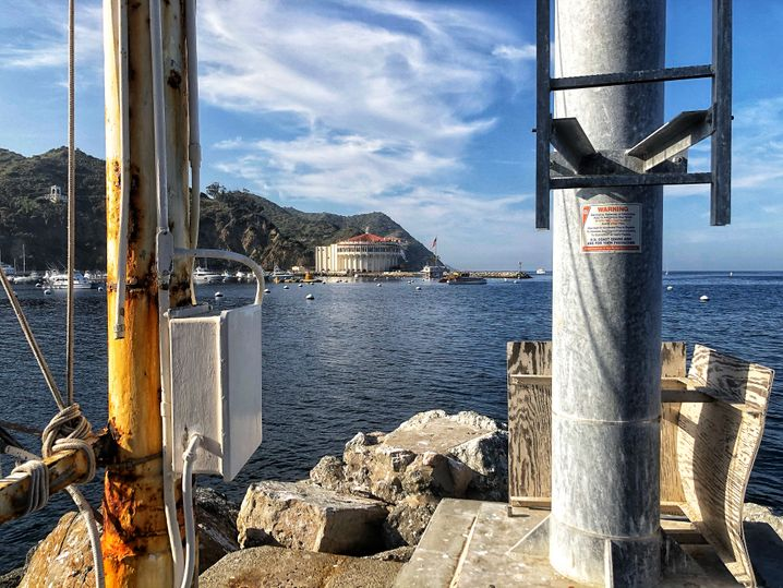 Mythischer Ort: Catalinas Hafen Avalon, im Hintergrund das frühere Spielcasino, erbaut von William Wrigley
