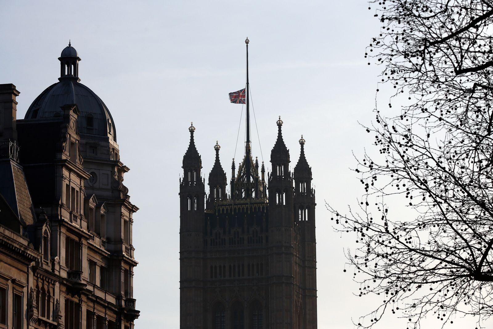 Flagge halbmast England