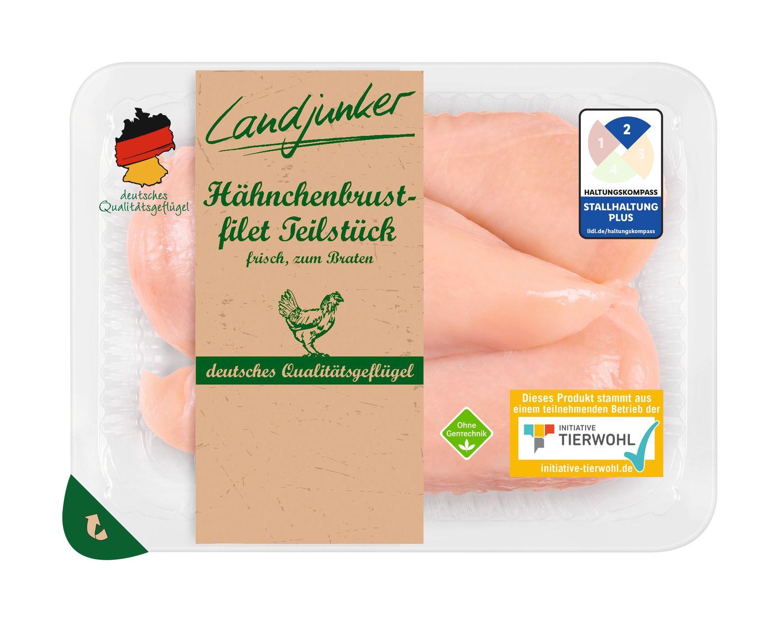 EINMALIGE VERWENDUNG Lidl / Haltungskennzeichnung / Frischfleisch