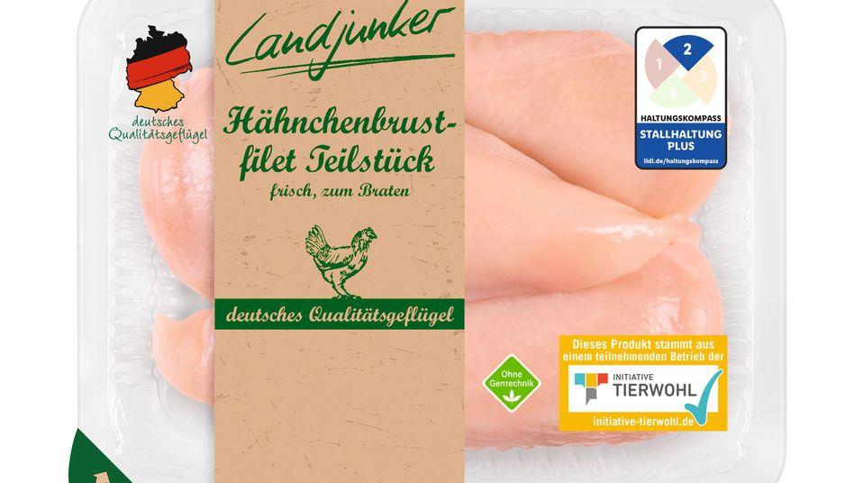 Fleischprodukt mit Kennzeichnung bei Lidl