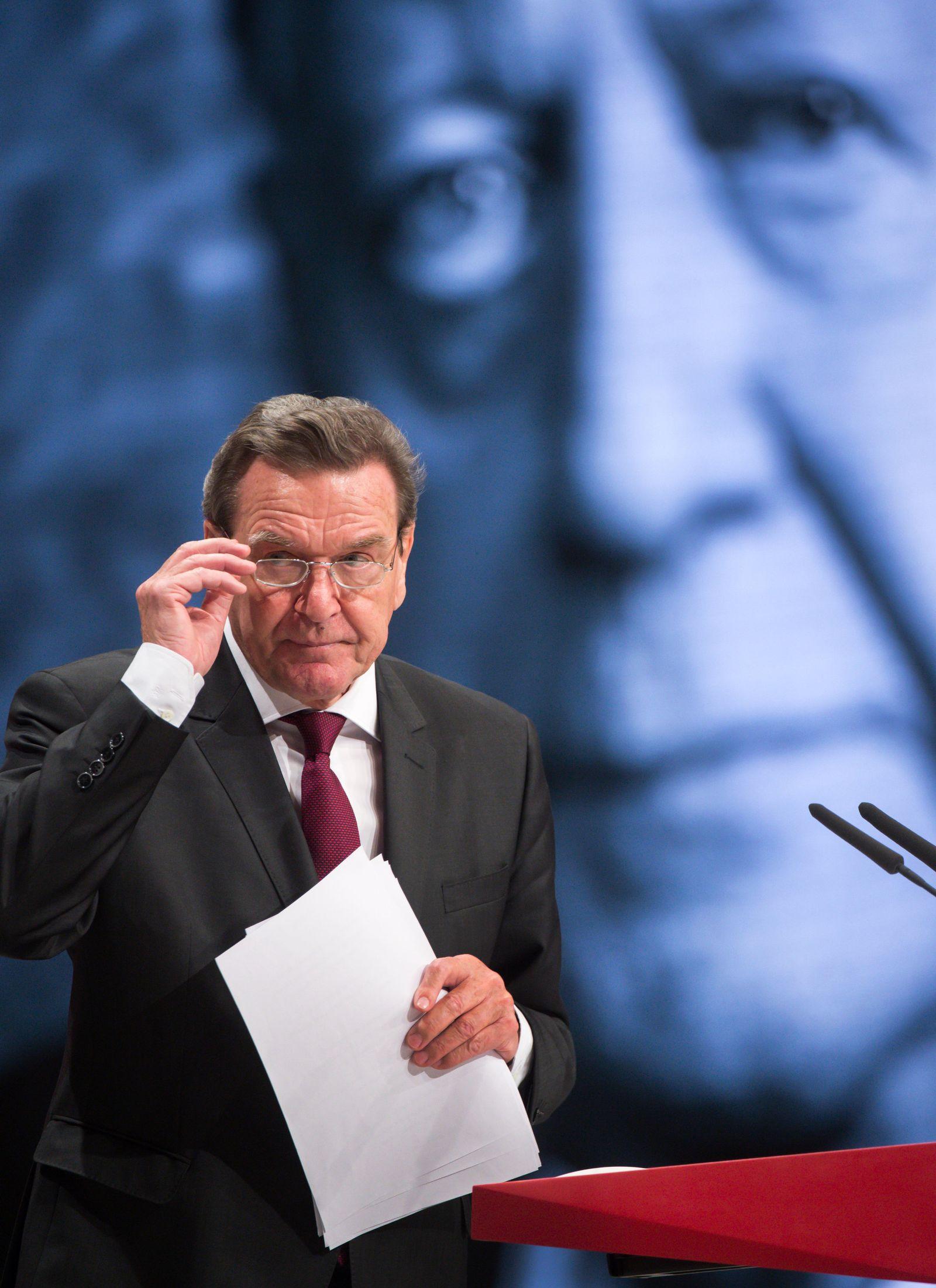 SPD-Bundesparteitag / Schröder