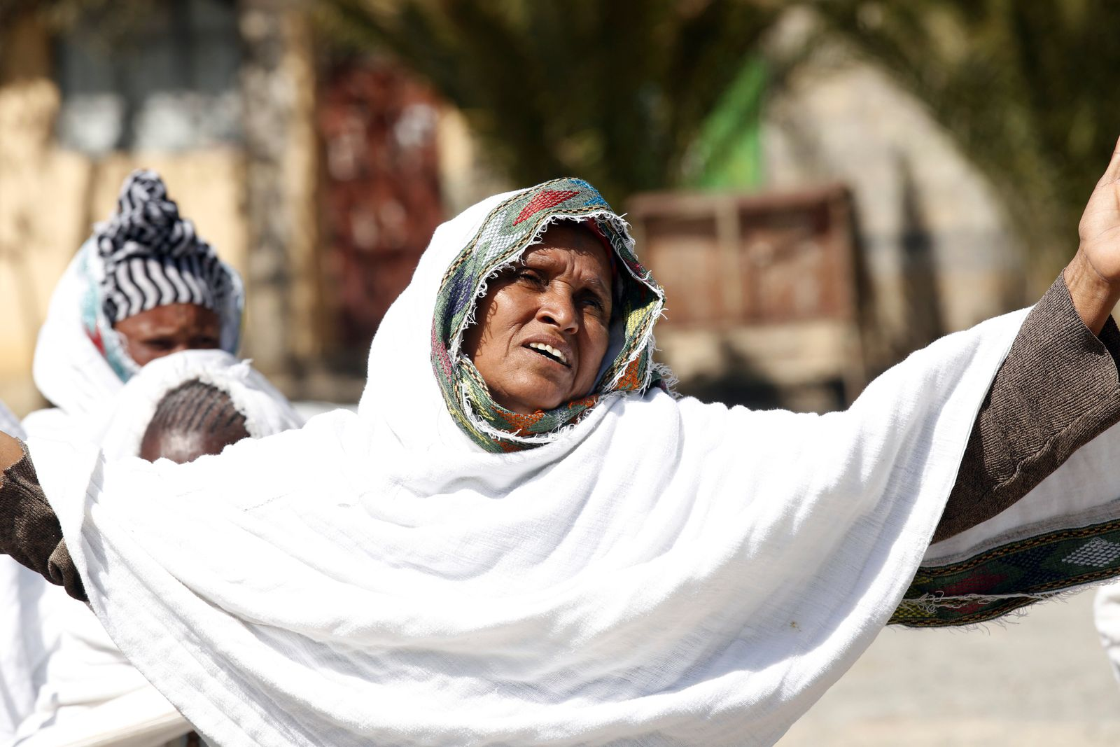Tigray people stage a protest against the government
